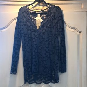 VS NWT Navy Swimsuit coverup